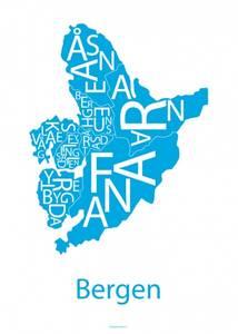 Bilde av Designbyodd, Plakat Bergen