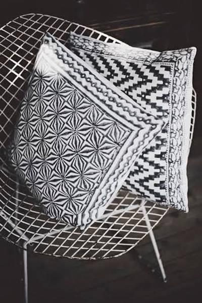 Designby, grey ziczac print putetrekk
