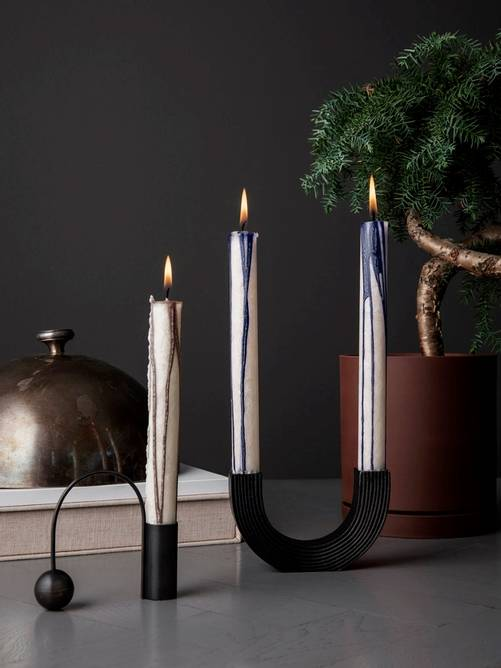 Bilde av Balance Candle Holder - Black