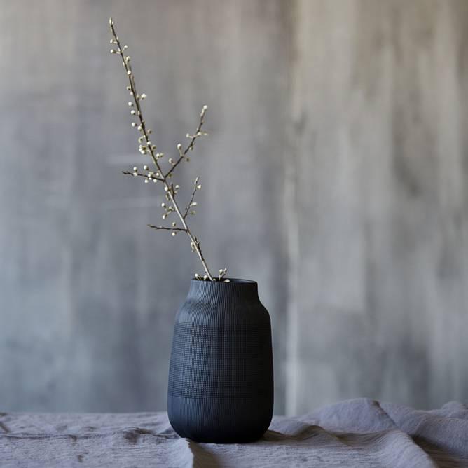 Bilde av Vase, Groove, Svart