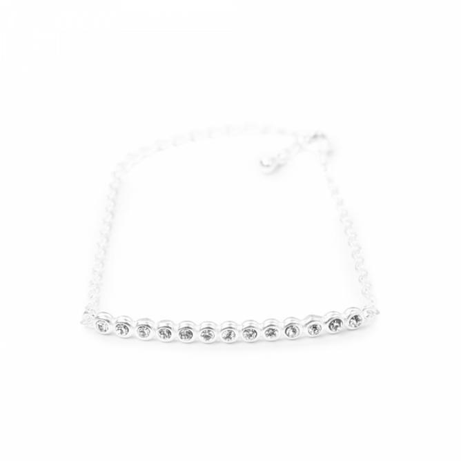 Bilde av Crystal String Armbånd Sølv