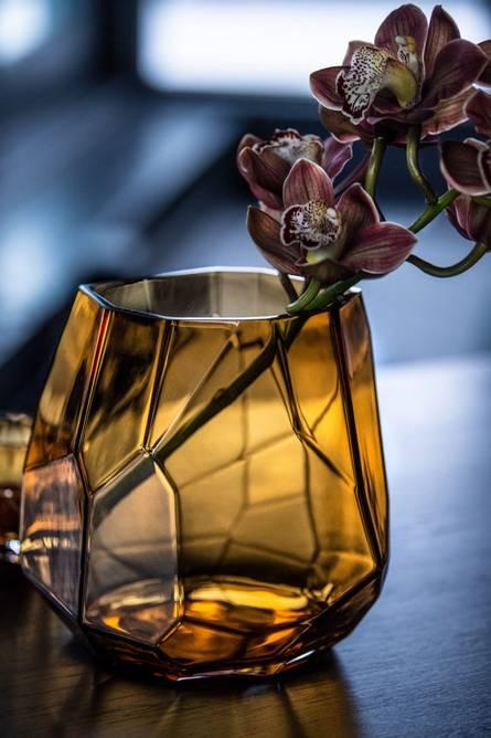 Bilde av Iglo lykt/vase varm cognac