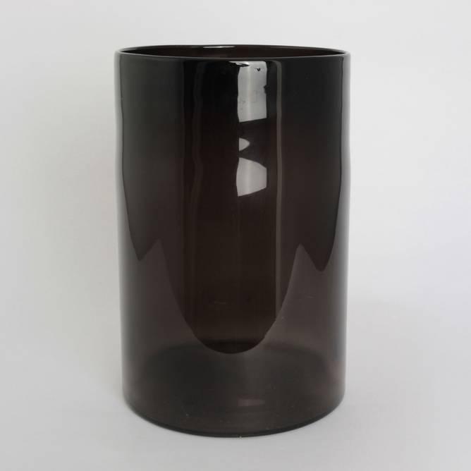 Bilde av Lyslykt sotet glass 30*20 cm