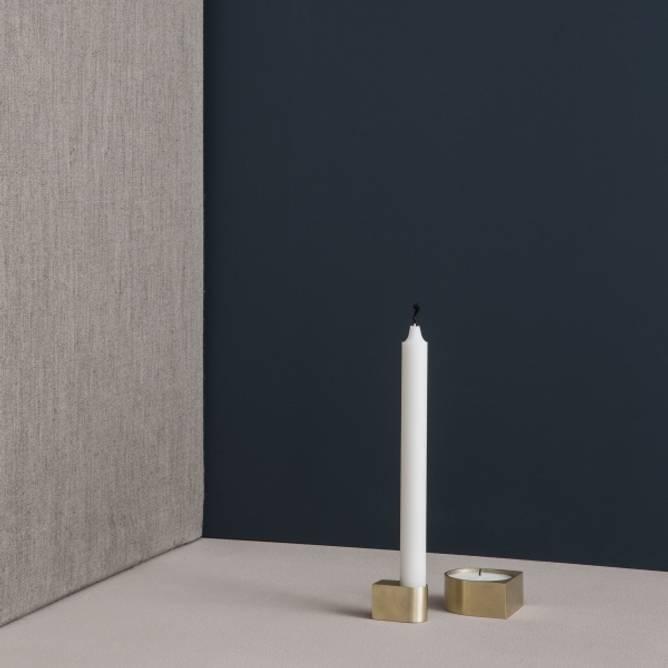Bilde av Block candle holder brass -