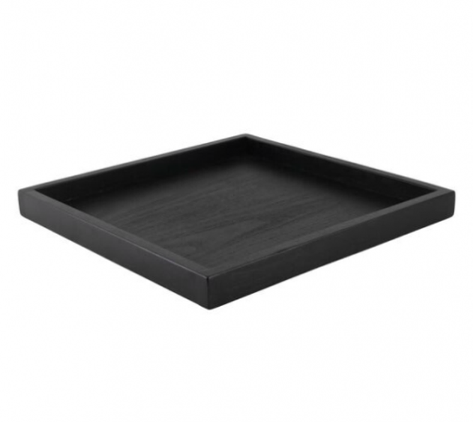 Bilde av Brett firkantet tre svart