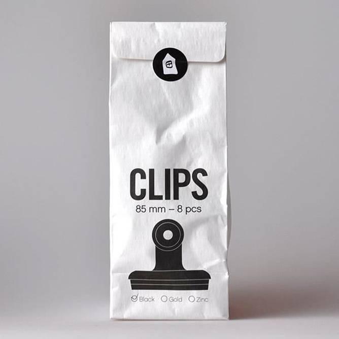 Bilde av Klips office matt svart 85 mm