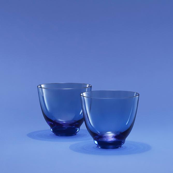Bilde av Holmegaard Flow Vannglass blå