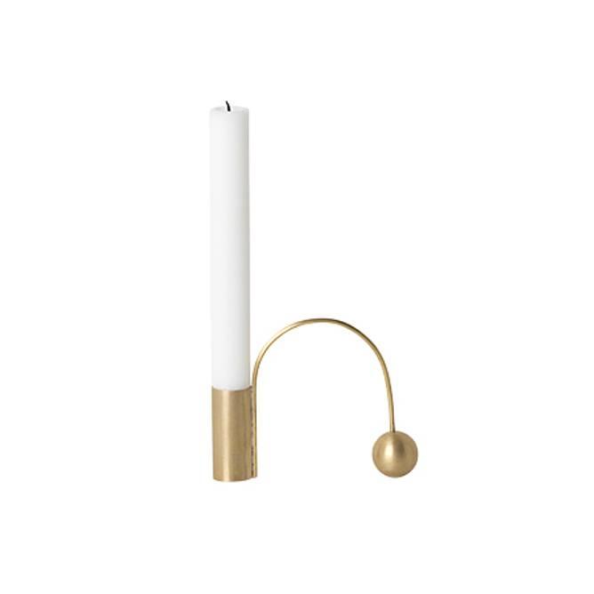 Bilde av Balance Candel Holder - Brass
