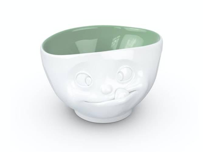 Bilde av Tassen skål grønn innside