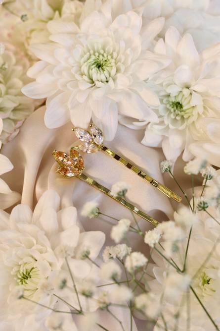 Bilde av Hårspenne Flower – Champagne