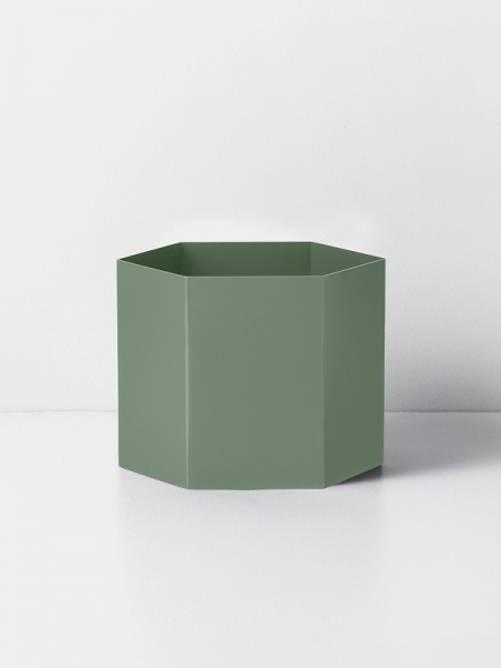 Bilde av Hexagon potte dusty green -