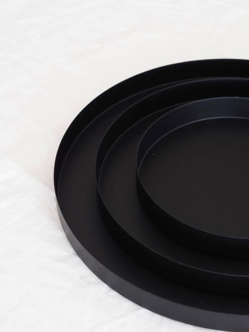 Bilde av Polar lysfat matt sort 36*3cm