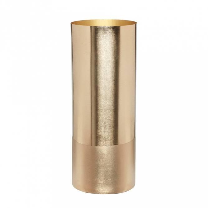Bilde av Vase w/brass base, brass,
