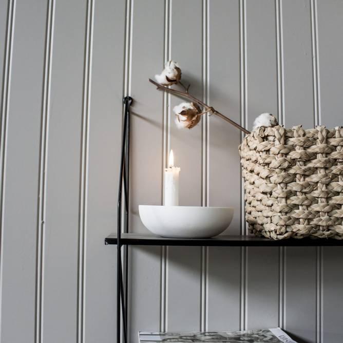 Bilde av Lidatorp liten hvit lysestake