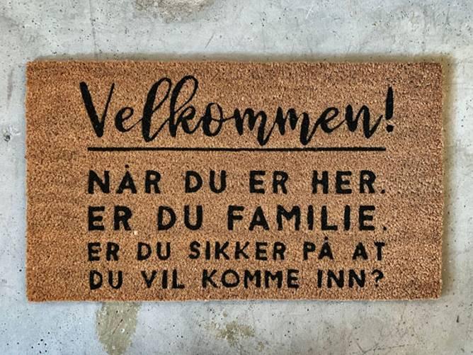 Bilde av Dørmatte Velkommen! 40x70cm