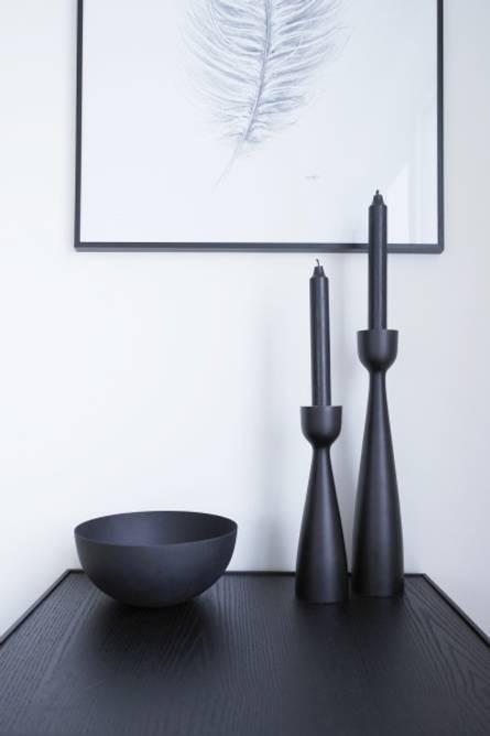 Bilde av Urban lysestake Sort 28cm