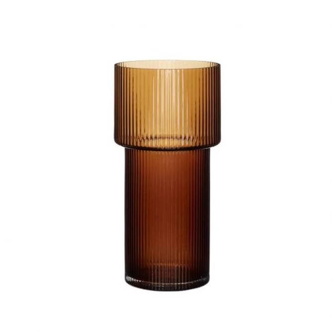 Bilde av Vase, glass, amber