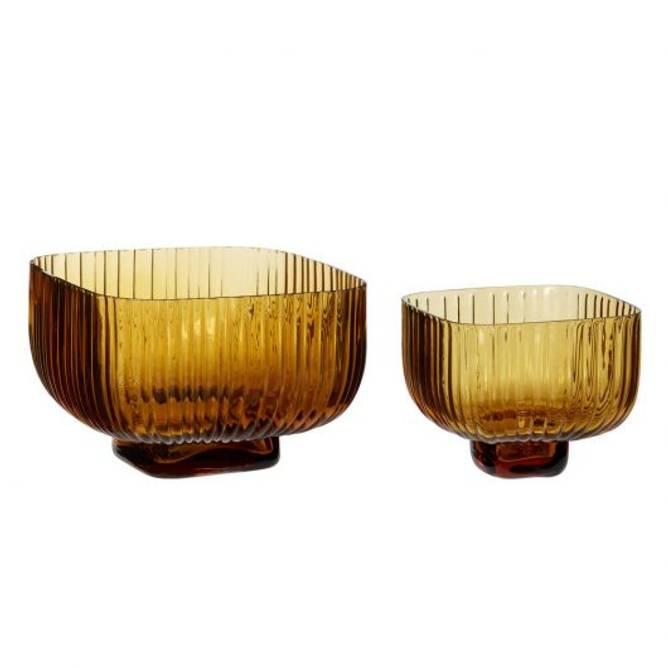 Bilde av Bowl, glass, amber sett på 2