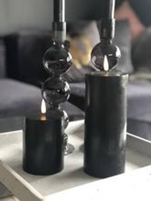 Bilde av Naturtro LED-kubbelys, sort -