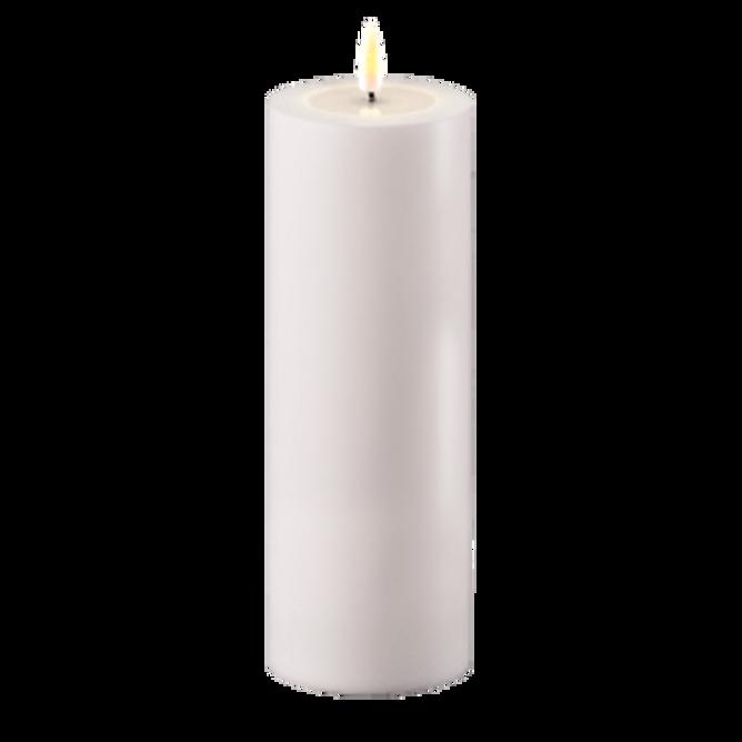 Bilde av Led kubbelys Hvit 7.5 x 20 cm
