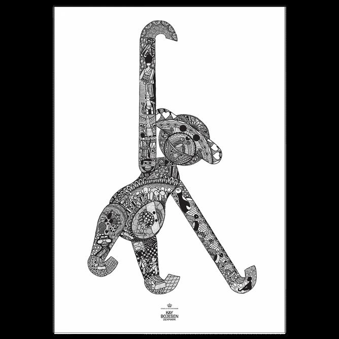 Bilde av Ape plakat 50x70 cm