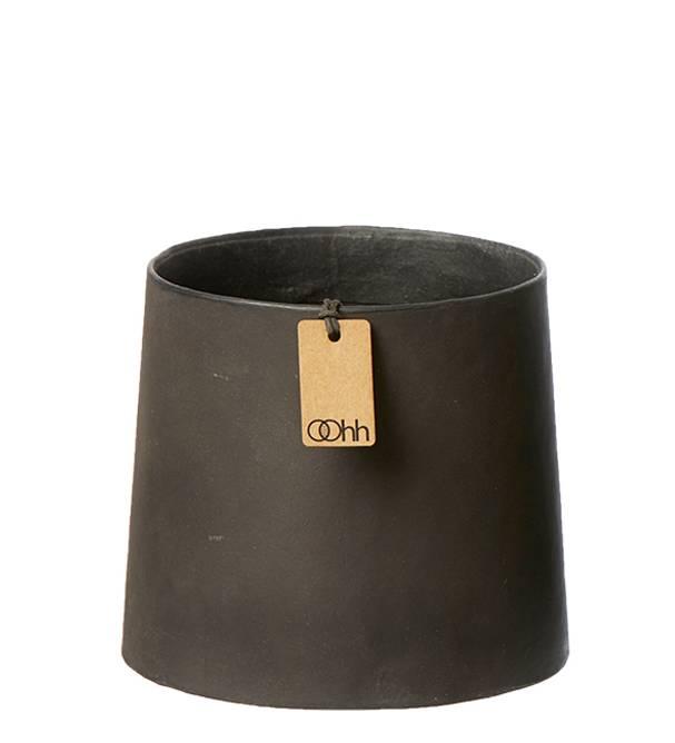 Bilde av Conical art potte svart liten
