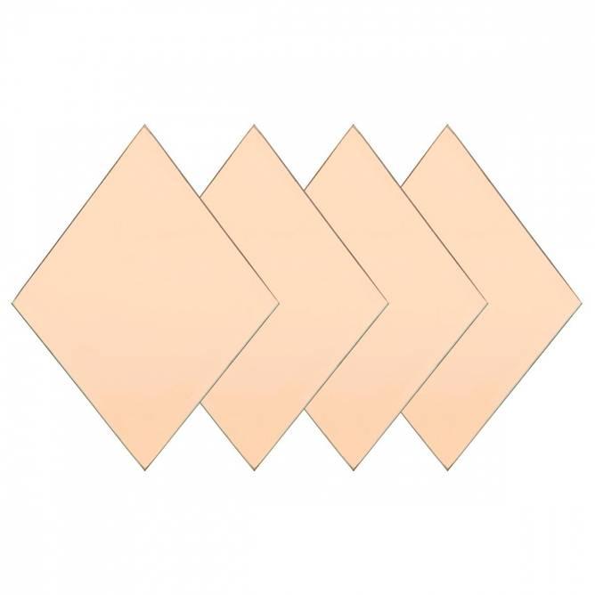 Bilde av Diamond speil 4 pack Rose