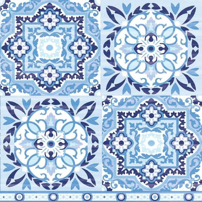 Bilde av Napkin 33 Tiles Blue