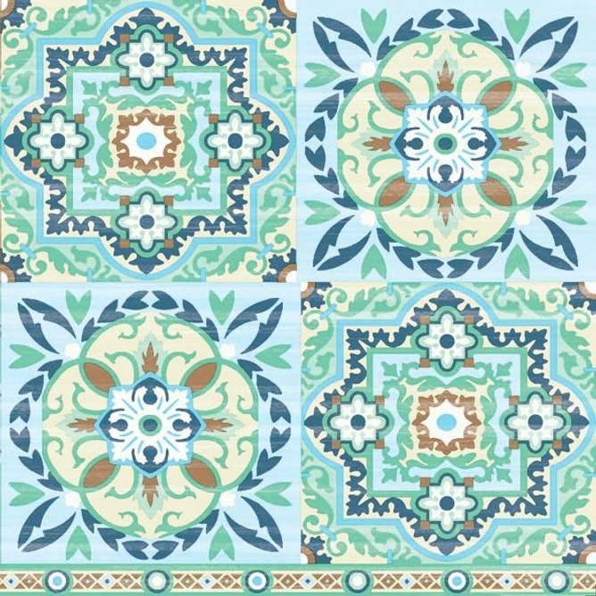 Bilde av Napkin 33 Tiles Green