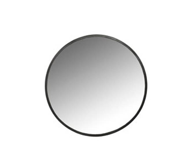 Bilde av Speil rund Metall Svart D50