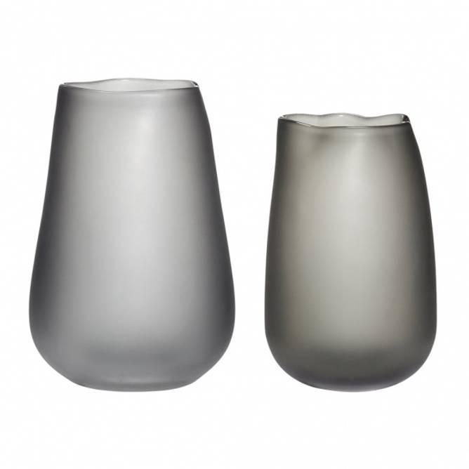 Bilde av Hübsch - Vase glass røget