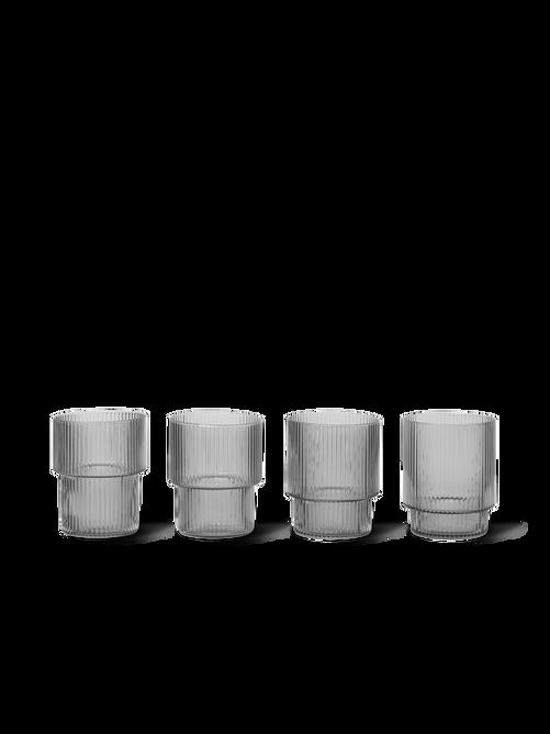 Bilde av Ripple Glasses - Set of 4 -