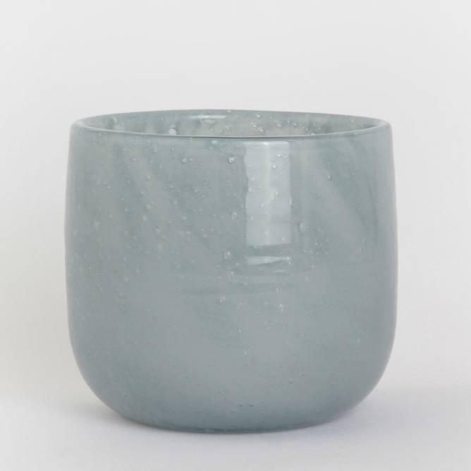Bilde av Telysholder/vase buet blågrå