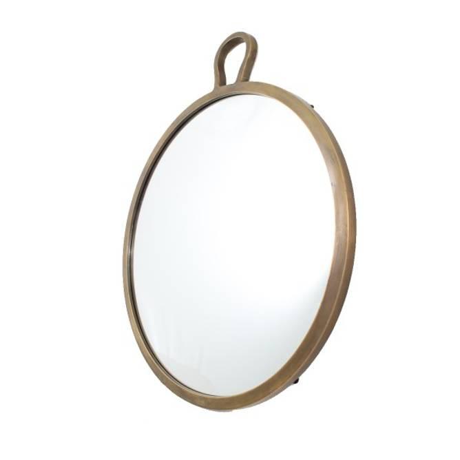 Bilde av Speil rundt i messing m/stor