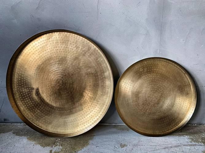 Bilde av Lysfat metall gull D:41cm