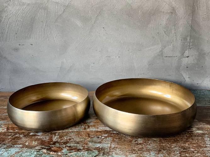 Bilde av Lysfat metall gull D:26cm