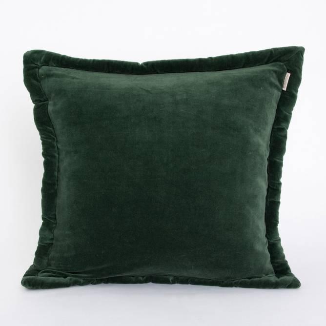 Bilde av Putetrekk fløyel mørke grønn