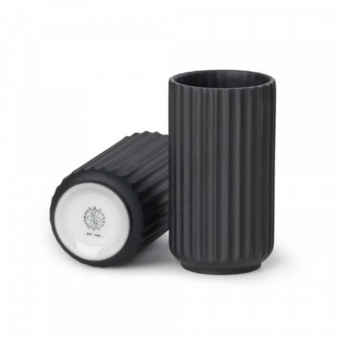 Bilde av Lyngby Vase 15 cm sort