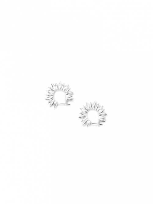 Bilde av Twisted petal earrings silver
