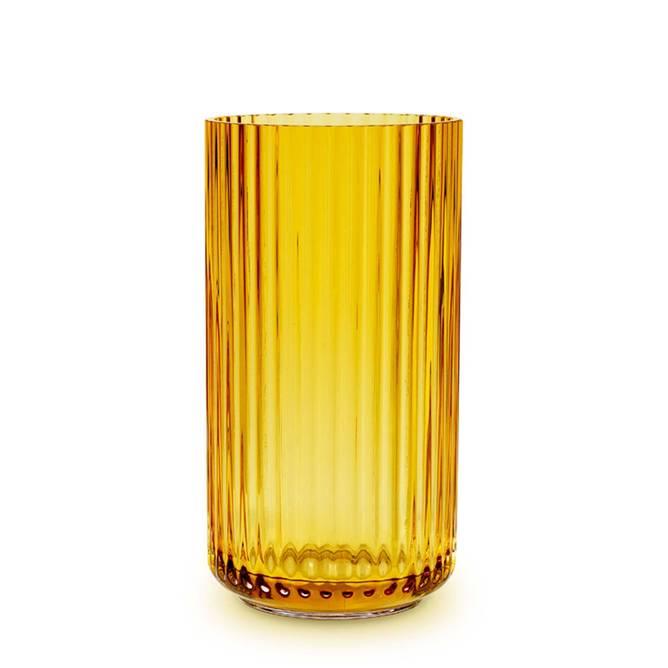 Bilde av Lyngby vase H 20,5 Amber