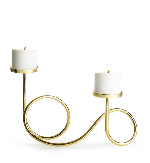 Bilde av Loop lysestake gull