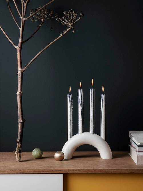 Bilde av Bow Candle Holder - White