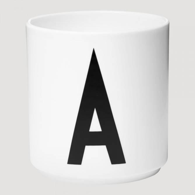 Bilde av Porselen kopp hvit  A-Z
