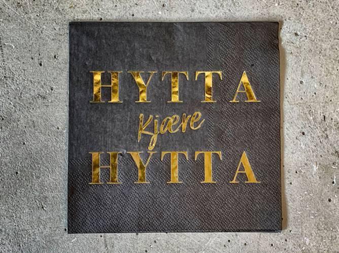 Bilde av Servietter Hytta sort m