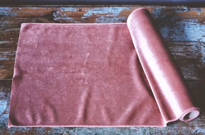 Bilde av Bordløper velur 35x200cm rosa