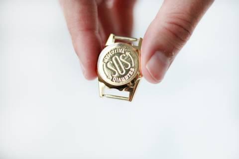 Bilde av SOS-kapsel for klokkerem, 12 mm forgylt