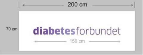 Bilde av Banner med Diabetesforbundet logo
