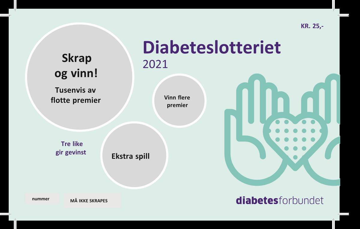 Loddbok Diabetesforbundet 2021