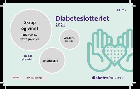 Bilde av Loddbok Diabetesforbundet 2021