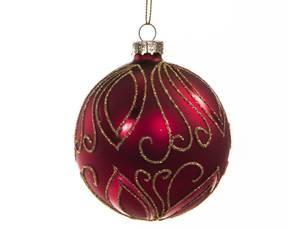 Bilde av Juletrekule rød 8cm